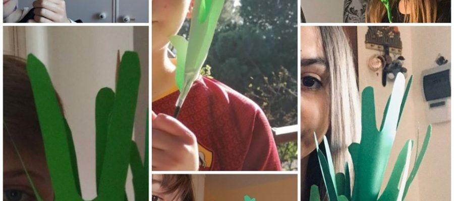 foto delle palme realizzate dai bambini del catechismo